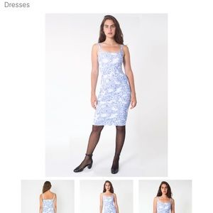 Brand new AA Blur and White Ponte Floral Dress S
